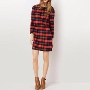 A.P.C. Dresses - A.P.C. Tartan Plaid Flannel Shift Dress in Red XS